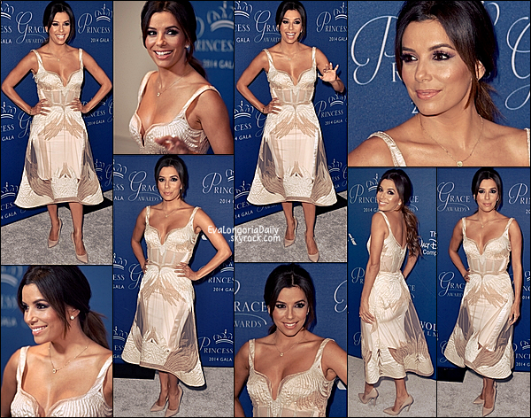✴ Eva est allée au 2014 Princess Grace Awards Gala au Beverly Wilshire Four Seasons Hotel.   08 Octobre 2014, Beverly Hills - Etats-Unis. Tenue: Eva porte une Robe Gabriela Cadena & des Escarpins Brian Atwood.