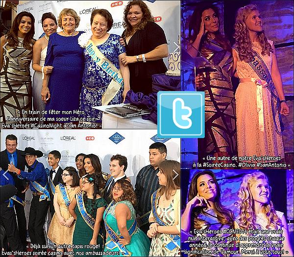 • 15 Octobre 2o14 •  - Mexico, Mexique. 🎼 Eva est allée sur le « Plateau de The Voice » avec Ricky Martin.