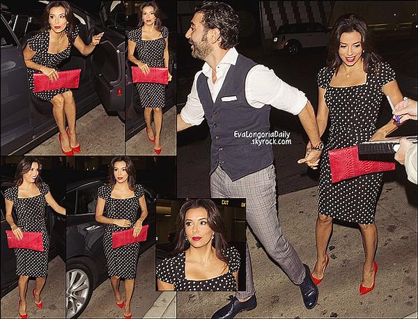 🍴 Eva & Jose Antonio sont allés dîner à Mr Chow Restaurant.   17 Octobre 2014, Beverly Hills - Etats-Unis. Tenue: Eva porte une Robe Stop Staring à 160¤ & des Escarpins Christian Louboutin.