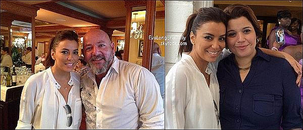 💇  Eva est allée au Ken Paves Salon.   12 Novembre 2014. Beverly Hills - Etats-Unis. Tenue: Eva porte des Lunettes Ray-Ban à 150¤, un Sac Gérard Darel à 235¤ & des Escarpins Aquazzura à 525¤.