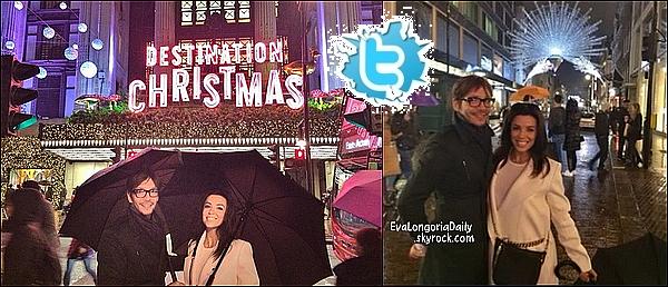🎡  Eva a twitté des photos d'elle & Ken Paves dans les rues de Londres.   16 Novembre 2014. Londres, Angleterre.