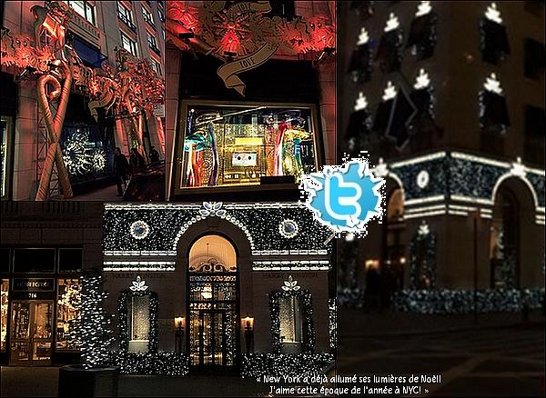 🎄 Eva est allée se promener dans les rues de New-York.  23 Novembre 2014. New-York, Etats-Unis.