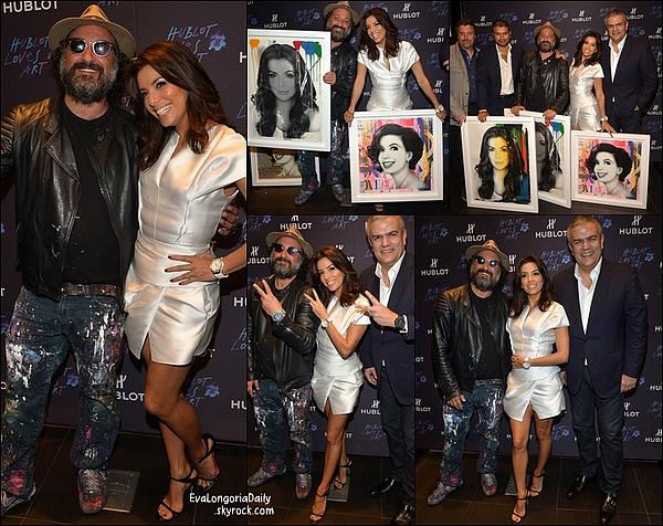• o5 Décembre 2o14 •  - Miami, Etats-Unis. 🎉 Le soir, Eva est allée à la « Hublot Haute Living Party » sur le yacht « L'Utopia III » de Loren Ridinger avec Loren Ridinger, Larsa Pippen, Miley Cyrus, Mr Brainwash...