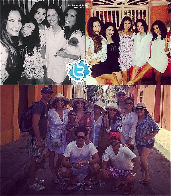 • 28 Décembre 2o14 •  - Cartagena, Colombie. 🎉 Eva est allée à une « Fête organisée par Esteban Cortázar » avec Maria, Bonnie, Lore Martinez & Lucky.  Tenue: Lunettes Ray-Ban à 15o¤, Pochette Chanel à 169o¤ & Baskets Nike.