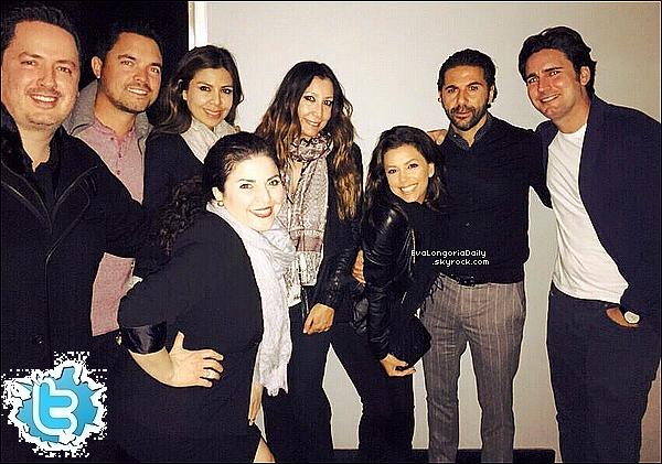 • o5 Janvier 2o15 •  - Hollywood, Etats-Unis. 🍴 Le soir, Eva, sa Maman & sa Cousine sont allées dîner au « Beso Restaurant ».