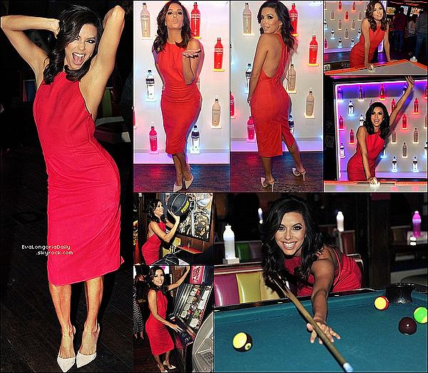 • o4 Février 2o15 •  - Los Angeles, Etats-Unis. ⭐ Le soir, Eva est allée à la soirée « SVEDKA Vodka Stupid Cupid » qui avait lieu à « Barney's Beanery ».  Tenue: Robe Tamara Mellon à 235¤ & Escarpins Gianvito Rossi à 63o¤.