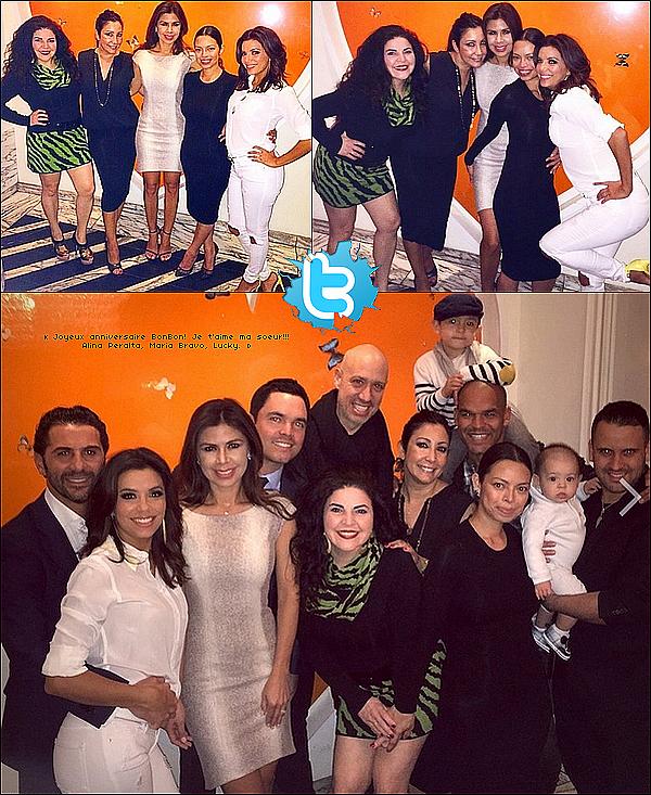 • o5 Mars 2o15 •  - West Hollywood, Etats-Unis. 🎂 Eva, Pepe & leurs amis sont allés au « Cecconi's Restaurant » pour l'anniversaire de Bonnie. Tenue: Ceinture Hermès à 84o¤, Jean Frame à 195¤ & Escarpins Manolo Blahnik à 73o¤.