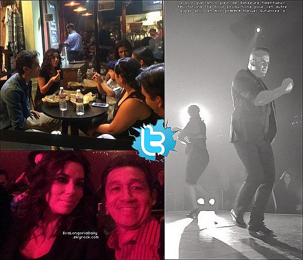 • 12 Mars 2o15 •  - Los Angeles, Etats-Unis. 🎉 Le soir, Eva, Bonnie & Alina sont allées à « El Rey Theatre » pour voir un Spectacle de Flamenco donnée par le mari d'Alina.