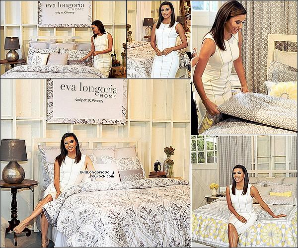 • 22 Avril 2o15 •  - Los Angeles, Etats-Unis. ⭐ Eva est allée au Lancement de la « Eva Longoria Home Collection » en vente chez JC Penney. Tenue: Escarpins Christian Louboutin à 82o¤.