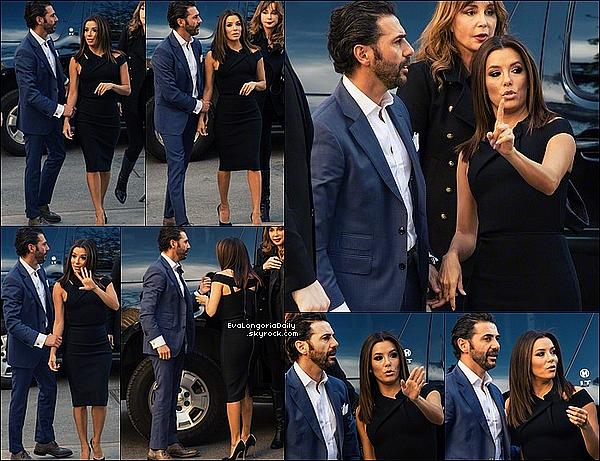 ✴ Eva s'est rendue au Tribeca Film Festival.  25 Avril 2015. New-York, États-Unis. Tenue: Eva porte une Robe Roland Mouret à 3 675¤ & des Escarpins Casadei.