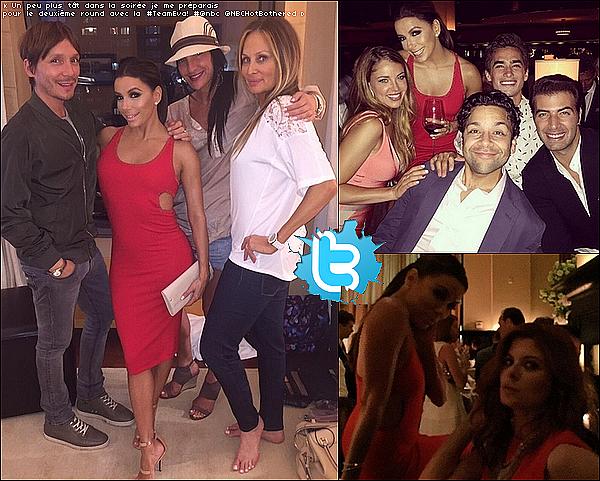 ✴ Eva est allée à la soirée 2015 NBC Upfront Presentation au Dirty French Restaurant.  11 Mai 2015. New-York, États-Unis.