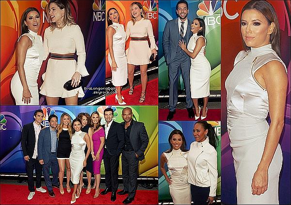 • 11 Mai 2o15 •  - New-York, Etats-Unis. ⭐ Eva est ensuite allée à la soirée de la « 2015 NBC Upfront Presentation »  qui avait lieu au « Dirty French Restaurant ».