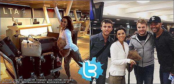 • 13 Mai 2o15 •  - New-York, Etats-Unis. ✈️ Eva a été vue au « JFK Airport » pour se rendre en France. Tenue: Ballerines Glamber à 25¤.