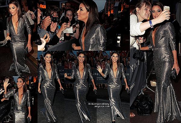 ✴ Eva est allée au Global Gift Gala 2015 au Mouton Cadet Wine Bar.  14 Mai 2015. Cannes, France. Tenue: Eva porte une Robe Georges Hobeika & une Pochette Oroton à 170¤.