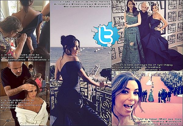 ⛵ Pour finir, Eva est allée à une Fête sur le bateau d'un ami.  17 Mai 2015. Cannes, France. Tenue: Eva porte une Robe Versace à 735¤ & une Pochette Salvatore Ferragamo à 815¤.