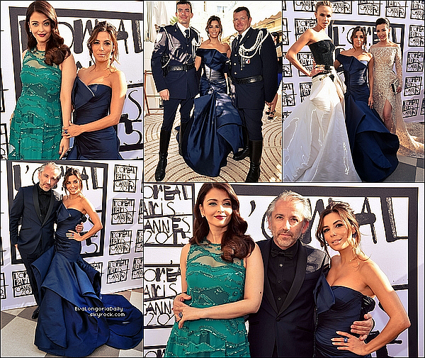 • 17 Mai 2o15 •  - Cannes, France. 🎉 Enfin, Eva est allée à une « Fête » sur le bâteau d'un ami. Tenue: Robe Versace à 735¤ & Pochette Salvatore Ferragamo à 815¤.