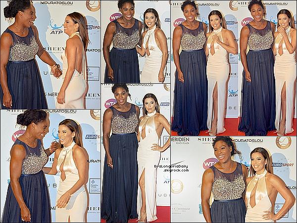 • 19 Mai 2o15 •  - Monaco. ⭐ Eva est allée à la « Soirée Champ'Seed » pour aider la « Fondation de Serena Williams ». Tenue: Robe Gabriela Cadena & Escarpins Brian Atwood.