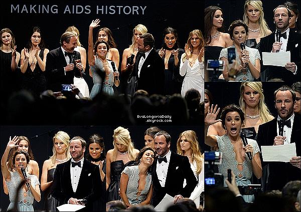 • 21 Mai 2o15 •  - Antibes, France. ⭐ Enfin, Eva & Pepe sont allés au « amfAR's 22nd Cinema Against AIDS Gala » qui se déroulait à « l'Hotel du Cap-Eden-Roc ». Tenue: Robe Georges Hobeika & Escarpins Brian Atwood.
