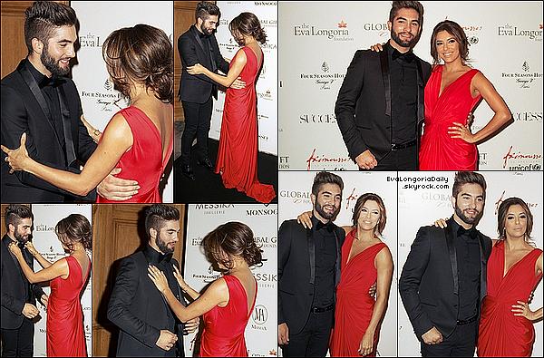 • 25 Mai 2o15 •  - Paris, France. ⭐ Eva est allée à « l'Hôtel George V » pour le « Global Gift Gala ». Tenue: Robe Monsoori.