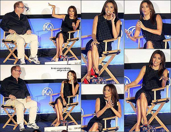 ✴ Eva & Marc Cherry sont allés au 7th Annual Produced by Conference qui se déroulait aux Paramount Studios.  31 Mai 2015. Hollywood, États-Unis. Tenue: Eva porte des Escarpins Christian Louboutin à 670¤.