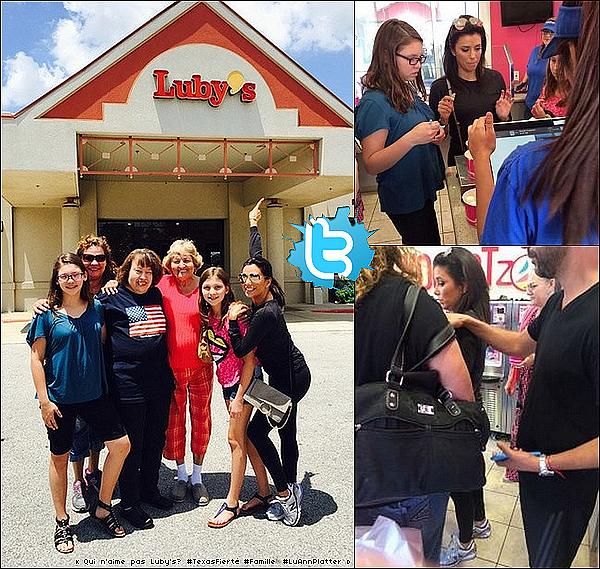 • 11 Juin 2o15 •  - Hollywood, Etats-Unis. 🍴 Eva & Pepe sont allés dîner au « Beso Restaurant » avec Mario Lopez & sa femme Courtney Mazza ainsi que d'autres amis comme Jadyn Douglas.