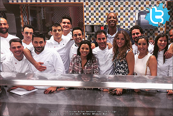 🚶 Eva & ses amis ont passé la journée à Capri & le soir sont allés dîner à Ristorante Da Paolino.  12 Juillet 2015. Capri, Italie.