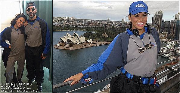 🌉 Pour finir, Eva & Pepe sont allés sur le Bridge Climb.  19 Juillet 2015. Sydney, Australie.Tenue: Eva porte des Lunettes Specsavers à 120¤.