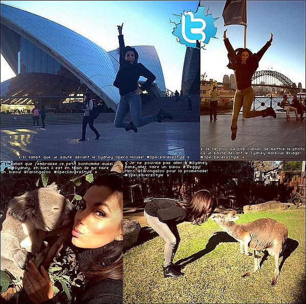 • 21 Juillet 2o15 •  - Sydney, Australie. ⭐ Enfin, Eva est allée à la « Specsavers' Spectacle Wearer of The Year Competition » qui avait lieu à « l'Hotel Centennial ». Tenue: Lunettes Specsavers à 12o¤.