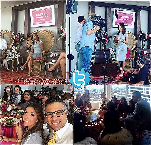 ✴️ Eva a participé au Hispanic Heritage Month Event qui se déroulait au Andaz Hotel.  26 Septembre 2015. West Hollywood, États-Unis.