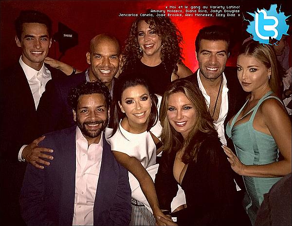 • o3 Octobre 2o15 •  - San Antonio, Etats-Unis. ⭐ Le soir, Eva & sa famille  sont allés à la « Eva's Heroes Annual Celebrity Casino Night ».