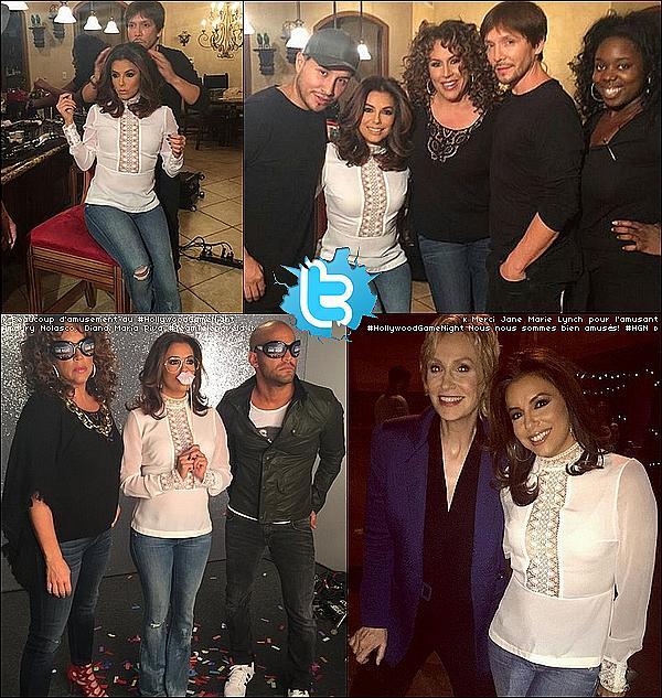 • o4 Novembre 2o15 •  - Los Angeles, Etats-Unis. 📺 Eva est allée sur le plateau de l'émission « Fashinonably Late » présenté par Rachel Zoe.