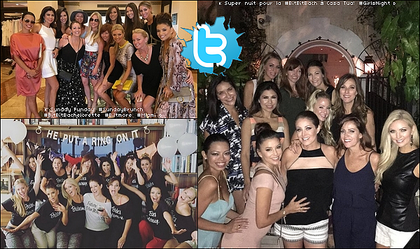 • 22 Novembre 2o15 •  - Miami, Etats-Unis. 🍴 Eva & ses amies sont allées au « Biltmore Hotel » puis le soir sont allées à la « Casa Tua Restaurant ».