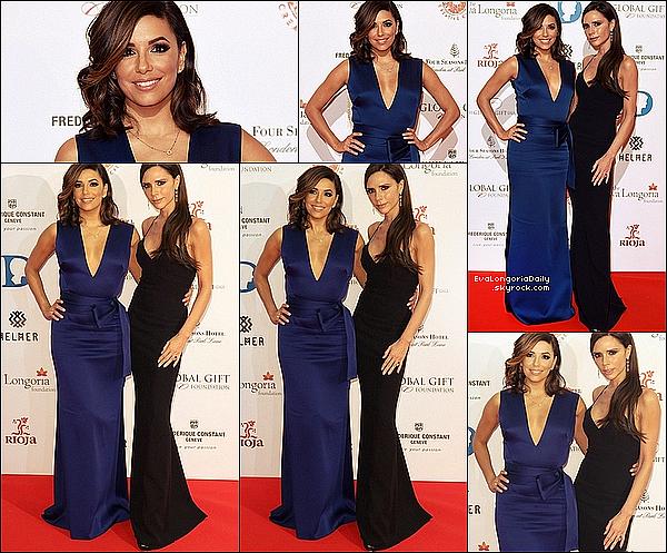 • 3o Novembre 2o15 •  - Londres, Angleterre. ⭐ Enfin, Eva est allée au « Global Gift Gala » qui avait lieu au « Four Seasons Hotel ». Tenue: Robe Victoria Beckham à 661o¤ & Escarpins Brian Atwood à 5o5¤.
