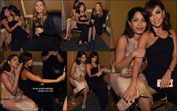 • o2 Décembre 2o15 •  - Miami, Etats-Unis. 🎥 Eva, Amaury & JenCarlos sont allés à la « Projection du 1er épisode de Telenovela » qui avait lieu au « Cinébistro ». Tenue: Top Misha à 12o¤, Jupe Misha à 15o¤ & Escarpins Tamara Mellon.