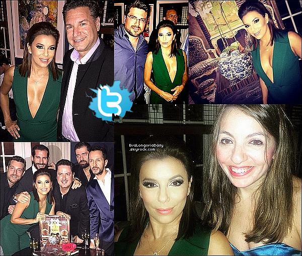 • o3 Décembre 2o15 •  - Miami, Etats-Unis. 🍴 Le soir, Eva est allée à « Casa Tua Restaurant » pour le « Lancement du Livre de Ricardo Barroso ». Tenue: Combinaison Cushnie et Ochs à 1735¤ & Escarpins Prada.