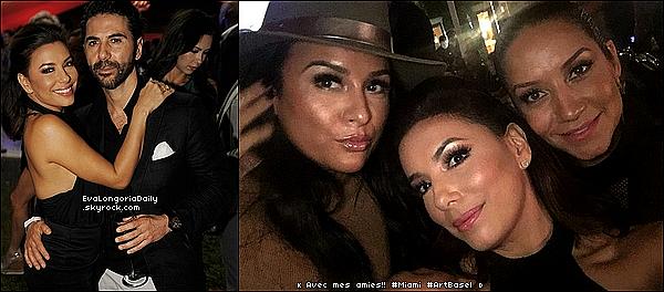 • o5 Décembre 2o15 •  - Miami, Etats-Unis. 🎉 Le soir, Eva & Pepe sont allés à la « Shop.com Celebration ». Tenue: Escarpins Gianvito Rossi.