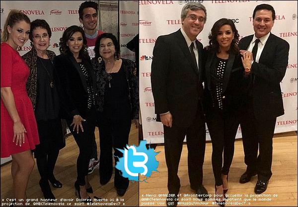 Eva est allée à la Hispanic Chamber of Commerce Legacy Award Luncheon.  o9 Décembre 2015. Corpus Christi, Etats-Unis.