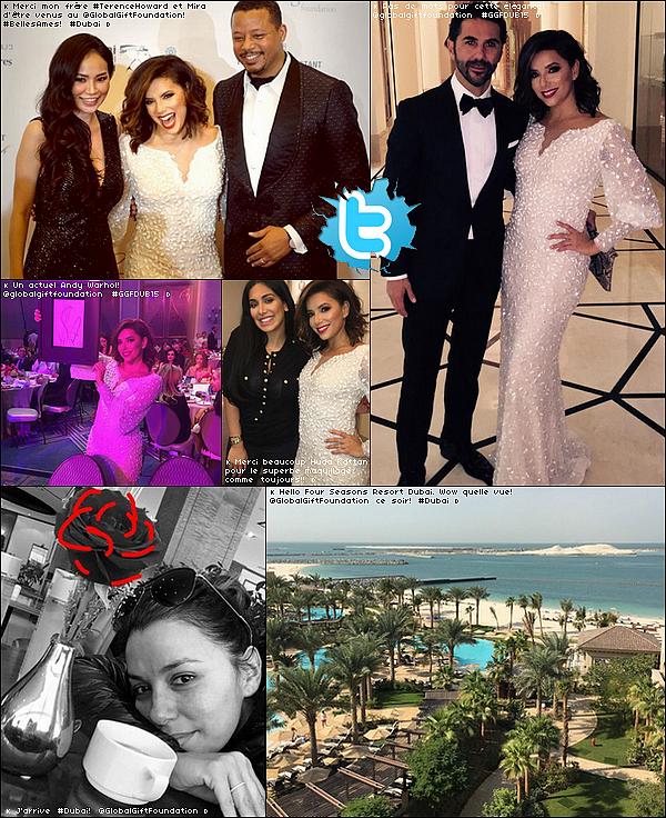 • 11 Décembre 2o15 •  - Dubaï, Emiras Arabes Unis. ⭐ Eva est allée au « Global Gift Gala » au « Four Seasons Hotel ».