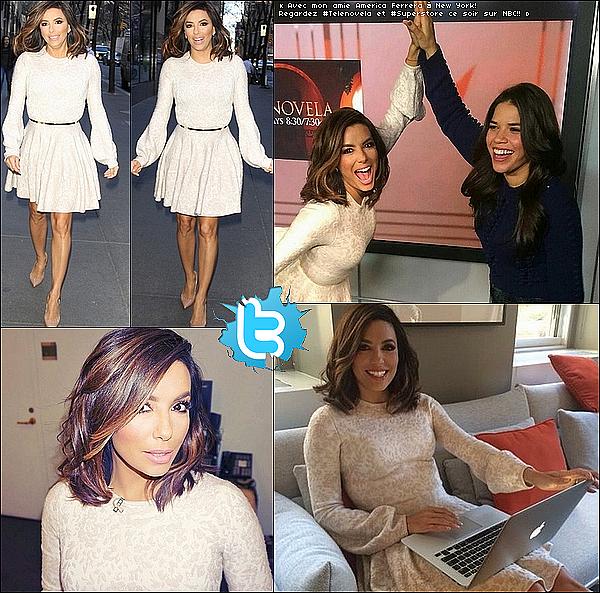 • o4 Janvier 2o16 •  - New-York, Etats-Unis. 📺 Le soir, Eva a posté des photos d'elle & ses amis en train de « Regarder Telenovela ».