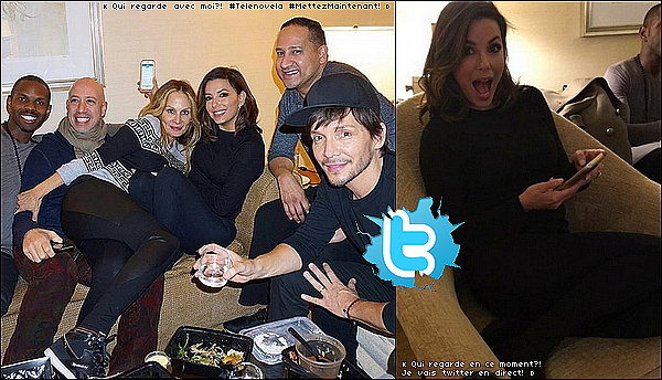 📺 Le soir, Eva & ses amis ont regardé Telenovela.  o4 Janvier 2o16. New-York - Etats-Unis.