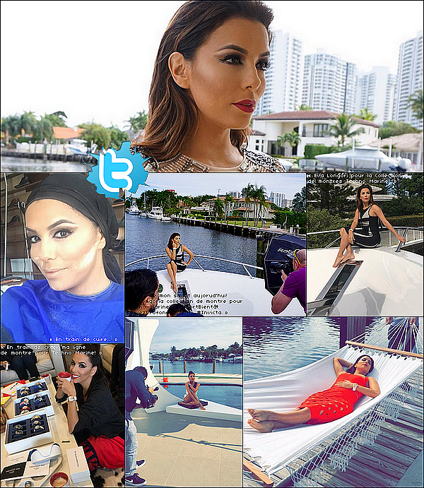  Eva était sur le Tournage d'un Photoshoot pour sa collection de montre de la marque Techno Marine.  19 Janvier 2o16. Miami - États-Unis.