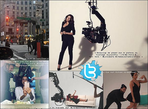 • 19 Janvier 2o16 •  - Miami, Etats-Unis. 🎥 Eva était sur le « Tournage d'un Photoshoot » pour sa collection de montre de la marque Techno Marine.