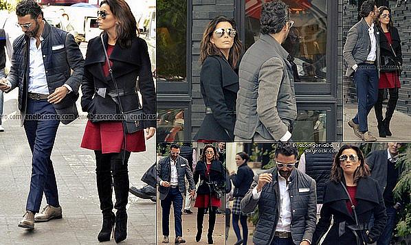 • o2 Février 2o16 •  - Mexico, Mexique. 🛍️ Enfin, Eva & Pepe sont allés « Faire du Shopping ». Tenue: Lunettes Victoria Beckham à 86o¤ & un Sac Chloé à 975¤.