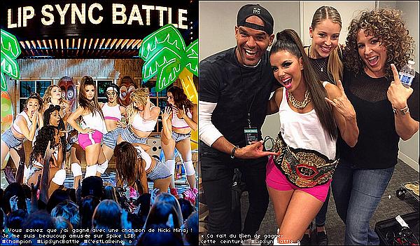 • 1o Février 2o16 •  - Los Angeles, Etats-Unis. 🍴 Eva danse sur la musique Low de Flo-Rida & Anaconda de Nicki Minaj pour l'émission « Lip Sync Battle ».