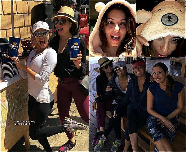 • 15 Février 2o16 •  - Los Angeles, Etats-Unis. 🎤 Eva & ses amis du tournage de Telenovela ont « Fait un Karaoké ».
