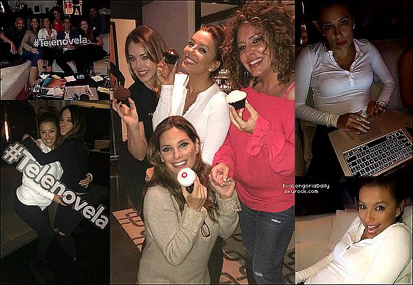 • 22 Février 2o16 •  - Los Angeles, Etats-Unis. 📺 Eva & ses amis de Telenovela se sont rassembler pour « Regarder le Dernier Épisode » de la 1ère saison.