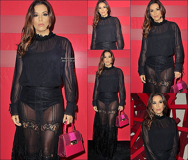 • o8 Mars 2o16 •  - Paris, France. ⭐ Le soir, Eva est allée à la « L'Oréal Paris Red Obsession Party ». Tenue: Robe Balmain à 2o4o¤ & Escarpins Christian Louboutin à 625¤.