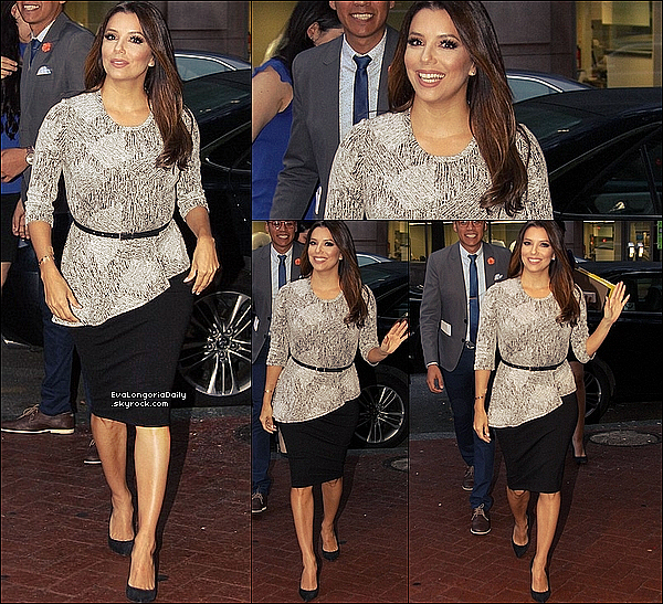 ⛳ Eva est allée au Woolly Mammoth Theatre pour le Latino Victory Foundation's Latino Talks.  o4 Mai 2o16. Washington - États-Unis. Tenue: Eva porte une Robe Eva Longoria Collection.