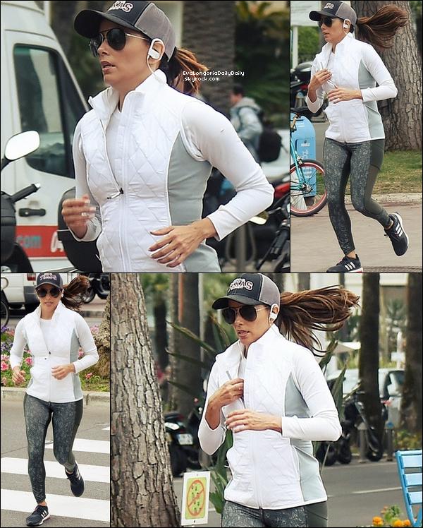 🏃 Eva est ensuite allée faire de la Course à Pieds.  1o Mai 2o16. Cannes - France. Tenue: Eva porte des Baskets Adidas à 95¤.