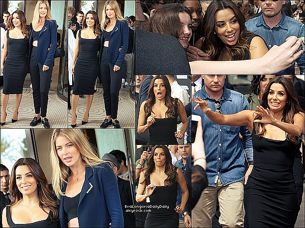🍴 Enfin, Eva est allée Dîner au Restaurant avec Victoria Beckham.  11 Mai 2016. Cannes, France.